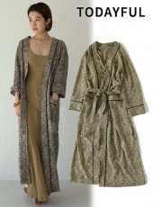 TODAYFUL (トゥデイフル)<br>Jacquard Piping Gown  19秋冬【11920004】ウールコート