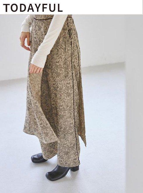 TODAYFUL (トゥデイフル)<br>Jacquard Layered Pants  21秋冬予約2【11920711 12120719 】パンツ 入荷予定 : 9月中旬〜