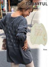 TODAYFUL (トゥデイフル)<br>Backprint Long T-Shirts  19秋冬予約【11920607】Tシャツ