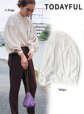 TODAYFUL (トゥデイフル)<br>Peasant Sleeve Blouse  19秋冬予約2【11920405】シャツ・ブラウス