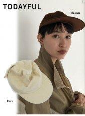 TODAYFUL (トゥデイフル)<br>Corduroy x Leather Cap  19秋冬予約【11921023】帽子