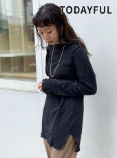 TODAYFUL (トゥデイフル)<br>Doubleface Slit Long T-shirts  19秋冬【11920605】Tシャツ