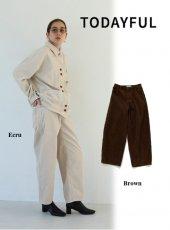TODAYFUL (トゥデイフル)<br>Corduroy Ankle Pants  19秋冬予約【11920702】パンツ