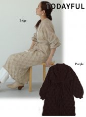 TODAYFUL (トゥデイフル)<br>Lacy Pattern Dress  19秋冬予約【11920307】フレアワンピース