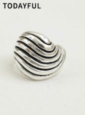 TODAYFUL (トゥデイフル)<br>Wave Voluminous Ring (Silver925)  19秋冬予約【11920924】リング
