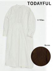 TODAYFUL (トゥデイフル)<br>Pintuck Shirts Dress  19秋冬予約【11920317】マキシワンピース