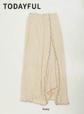 TODAYFUL (トゥデイフル)<br>Jacquard Slit Skirt  19秋冬予約【11920805】タイトスカート