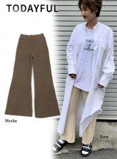 TODAYFUL (トゥデイフル)<br>Flare Knit Pants  19秋冬【11920712】パンツ