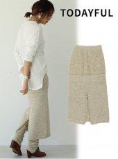 TODAYFUL (トゥデイフル)<br>Backslit Knit Skirt  19秋冬予約【11920802】タイトスカート