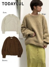 TODAYFUL (トゥデイフル)<br>Alpaca Hand Knit  19秋冬予約【11920516】ニットトップス