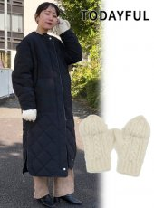 TODAYFUL (トゥデイフル)<br>Cable Knit Gloves  19秋冬予約【11921020】手袋