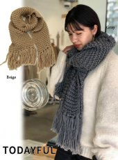 TODAYFUL (トゥデイフル)<br>Voluminous Knit Muffler  19秋冬【11921025】マフラー・ストール TODAYFUL20 sale