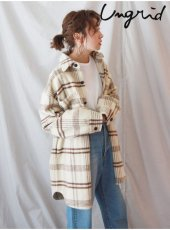 Ungrid (アングリッド)<br>シャギーチェックルーズシャツ  19秋冬【111950406201】シャツ・ブラウス