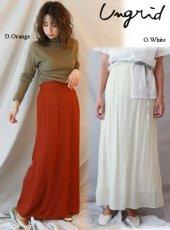Ungrid (アングリッド)<br>ヴィンテージサテンフィットフレアスカート  19秋冬【111940816201】フレアスカート