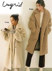 Ungrid (アングリッド)<br>ボアボリュームミドル丈コート  19秋冬【111960004201】ウールコート