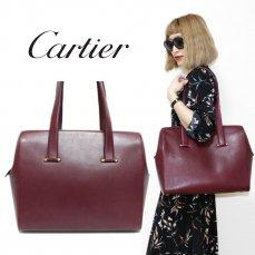 Cartier カルティエ ヴィンテージ<br>マストラインレザーハンドバッグ【vintage By RiLish】ランクBA ハンド・ショルダーバッグ