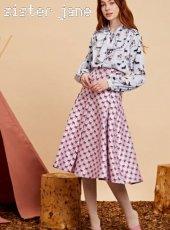 sister jane(シスタージェーン)<br>Wild Horse Box Pleat Midi Skirt  19秋冬【20SJ0SK332】フレアスカート