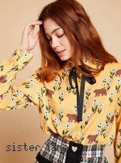 sister jane(シスタージェーン)<br>Bear Print Shirt  19秋冬【20SJ0BL847】シャツ・ブラウス
