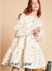 sister jane(シスタージェーン)<br>Star Jacquard Tiered Mini Dress   19秋冬【20SJ0DR1099】フレアワンピース