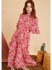 sister jane(シスタージェーン)<br>Flare Sleeve Floral Midi Dress   19秋冬【20SJ0DR1102】マキシワンピース