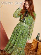 sister jane(シスタージェーン)<br>Midi Ruffle Dress In Floral   19秋冬予約【20SJ0DR1106】マキシワンピース