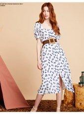 sister jane(シスタージェーン)<br>Bow Print Midi Dress   19秋冬【20SJ0DR1108】フレアワンピース