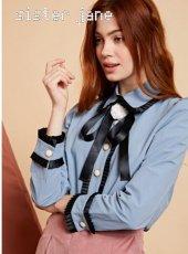 sister jane(シスタージェーン)<br>Pleated Detail Shirt   19秋冬【20SJ0BL855】シャツ・ブラウス