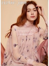 sister jane(シスタージェーン)<br>Embroidered Tulle Top  19秋冬予約【20SJ0TO412】シャツ・ブラウス