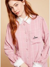 sister jane(シスタージェーン)<br>Check Jane Smock Shirt  19秋冬【20SJ0BL862】シャツ・ブラウス