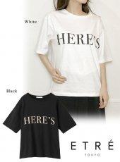 ETRE(エトレ)<br>HERES TEE  19秋冬【1219412123】Tシャツ ETRE20 sale