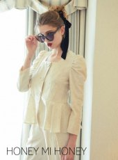 Honey mi Honey (ハニーミーハニー)<br>jacquard blouse jacket  19秋冬【19A-TA-25】