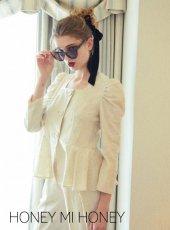 Honey mi Honey (ハニーミーハニー)<br>jacquard blouse jacket  19秋冬予約【19A-TA-25】