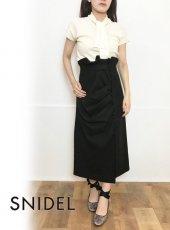 snidel(スナイデル)<br>ドレープデザインタイトスカート  19秋冬【SWFS194126】タイトスカート