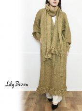 Lily Brown(リリーブラウン)<br>ミックス糸ニットコート  19秋冬予約【LWNC194075】ウールコート
