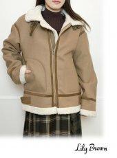 Lily Brown(リリーブラウン)<br>ウールボンバージャケット  19秋冬【LWFJ194154】ジャケット