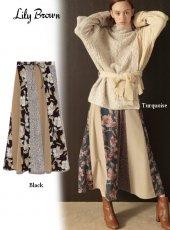 Lily Brown(リリーブラウン)<br>パッチワークスカート 19秋冬【LWFS194165】フレアスカート