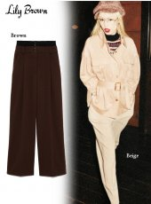 Lily Brown(リリーブラウン)<br>ウエストリブタックパンツ  19秋冬【LWFP194085】パンツ
