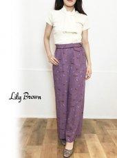 Lily Brown(リリーブラウン)<br>馬柄ワイドパンツ  19秋冬予約【LWFP194067】パンツ