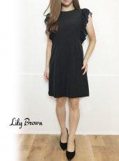 Lily Brown(リリーブラウン)<br>袖プリーツミニワンピース  19秋冬【LWFO194040】フレアワンピース