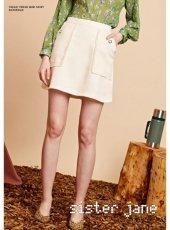 sister jane(シスタージェーン)<br>Fray Edge Tweed Mini Skirt   19秋冬予約【20SJ0SK335】タイトスカート