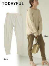 TODAYFUL (トゥデイフル)<br>Vintage Thermal Pants  19秋冬.予約【11920721】パンツ 受注会