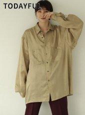 TODAYFUL (トゥデイフル)<br>Satin Over Shirts  19秋冬.【11920417】シャツ・ブラウス