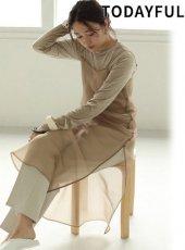 TODAYFUL (トゥデイフル)<br>Organdy Camisole Dress  19秋冬.予約【11920331】マキシワンピース 受注会
