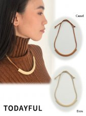 TODAYFUL (トゥデイフル)<br>Leather Cord Necklace  19秋冬.予約【11920954】ネックレス 受注会