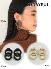 TODAYFUL (トゥデイフル)<br>Leather Ring Pierce  19秋冬.【11920948】ピアス・イヤリング