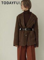 TODAYFUL (トゥデイフル)<br>Wool Check Jacket  19秋冬.【11920104】ジャケット