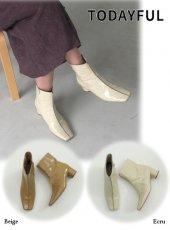 TODAYFUL (トゥデイフル)<br>Square Enamel Boots  19秋冬.【11921042】ブーツ