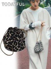 TODAYFUL (トゥデイフル)<br>Leopard Jacquard Purse  19秋冬.【11921045】ハンド・ショルダーバッグ  近日入荷