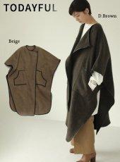 TODAYFUL (トゥデイフル)<br>Meltonwool Gown Coat  19秋冬.【11920010】ウールコート