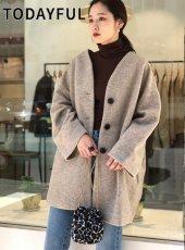 TODAYFUL (トゥデイフル)<br>Wool Cocoon Coat  19秋冬.予約【11920009】ウールコート 受注会